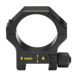 Coppia di Anelli per Picatinny in acciaio rinforzato - ø 30 mm H 8 mm - CONTESSA