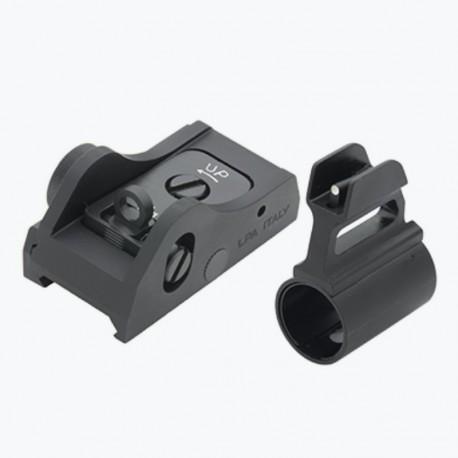 Adjustable sight set for semi-automatic shotguns - LPA SIGHTS
