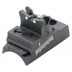 Fiber optic rear sight
