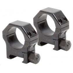Coppia di Anelli per Picatinny in acciaio rinforzato - ø 30 mm  H 26 mm - CONTESSA