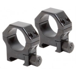Pair of Rings for Picatinny in reinforced steel - ø 30 mm  H 19 mm - CONTESSA