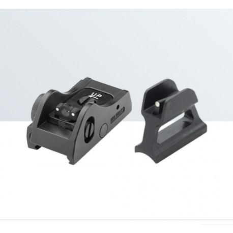 Set di mira regolabile per fucili semi-automatici e a pompa - LPA SIGHTS